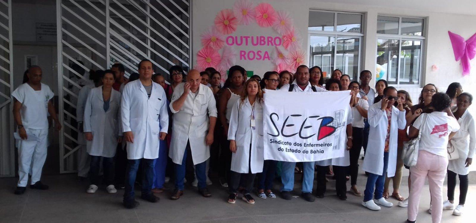Trabalhadores do Hospital Ernesto Simões Filho protestam em Salvador