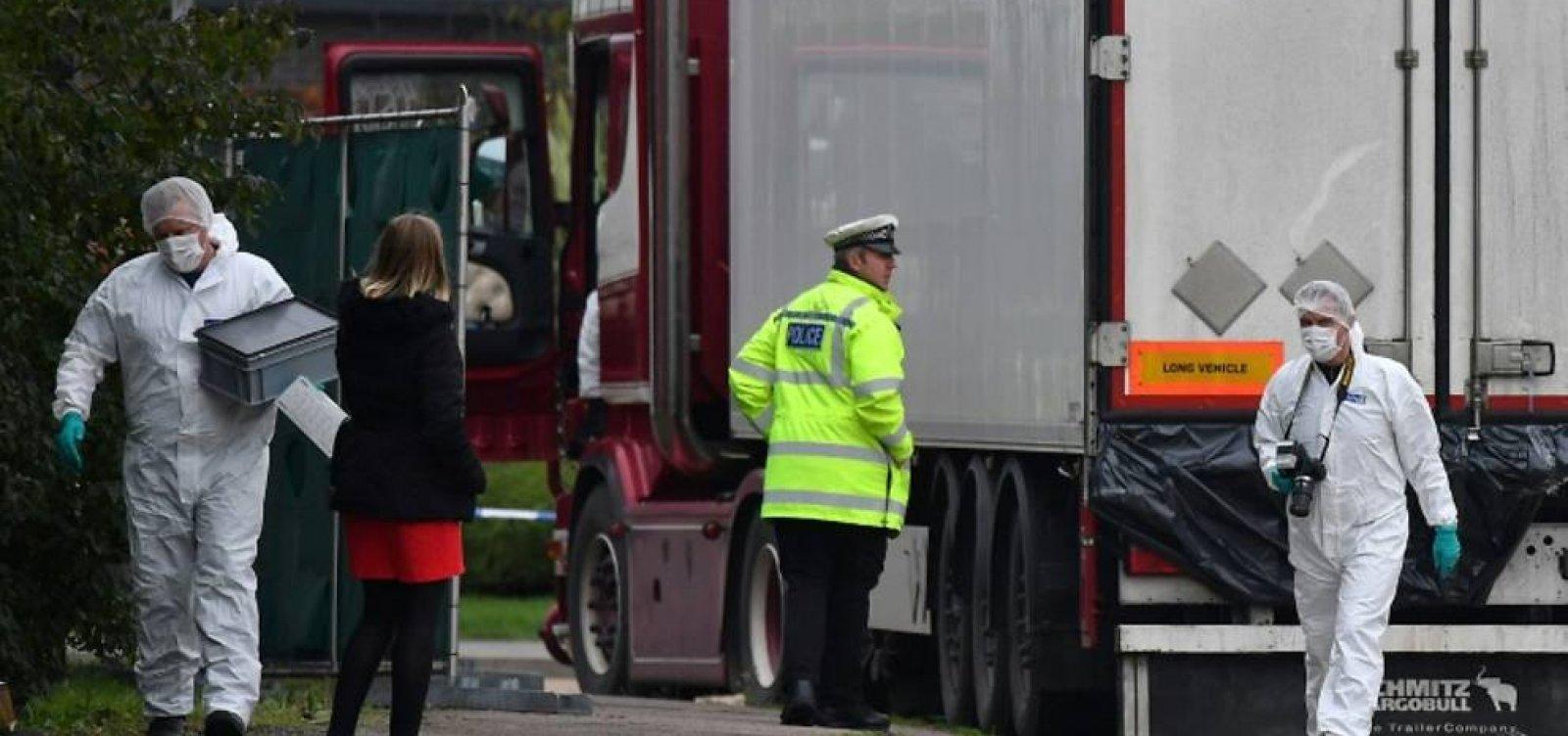 39 mortos em caminhão no Reino Unido são de nacionalidade chinesa