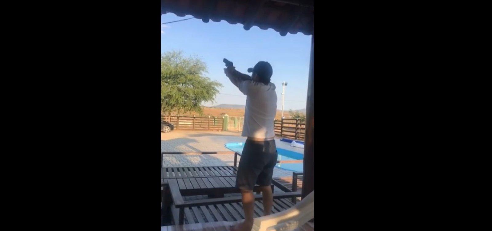 Deputado Marcell Moraes aparece em vídeo atirando para cima; assista