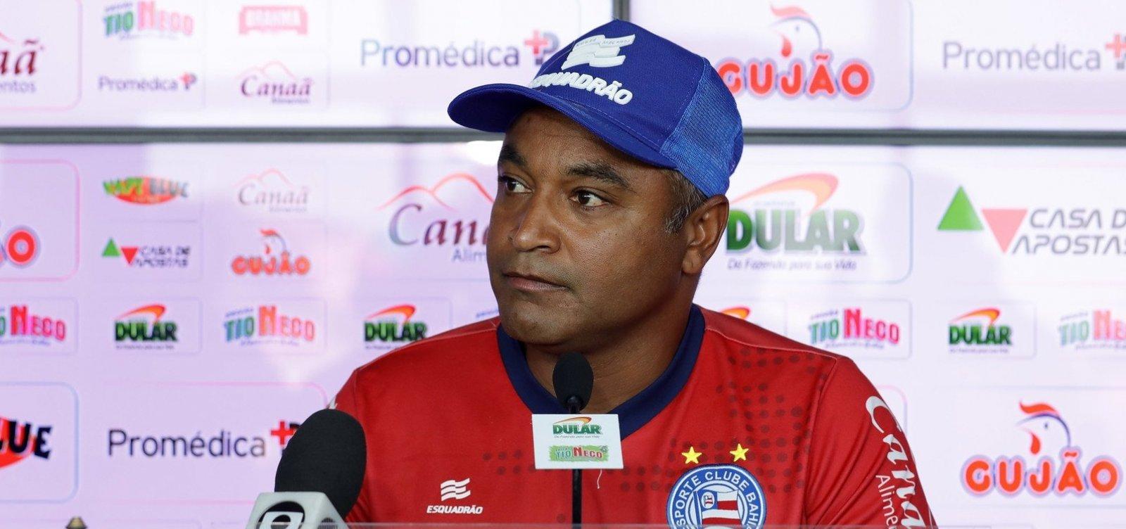 Após derrota para o Inter, Roger diz que ansiedade atrapalhou o desempenho do Bahia