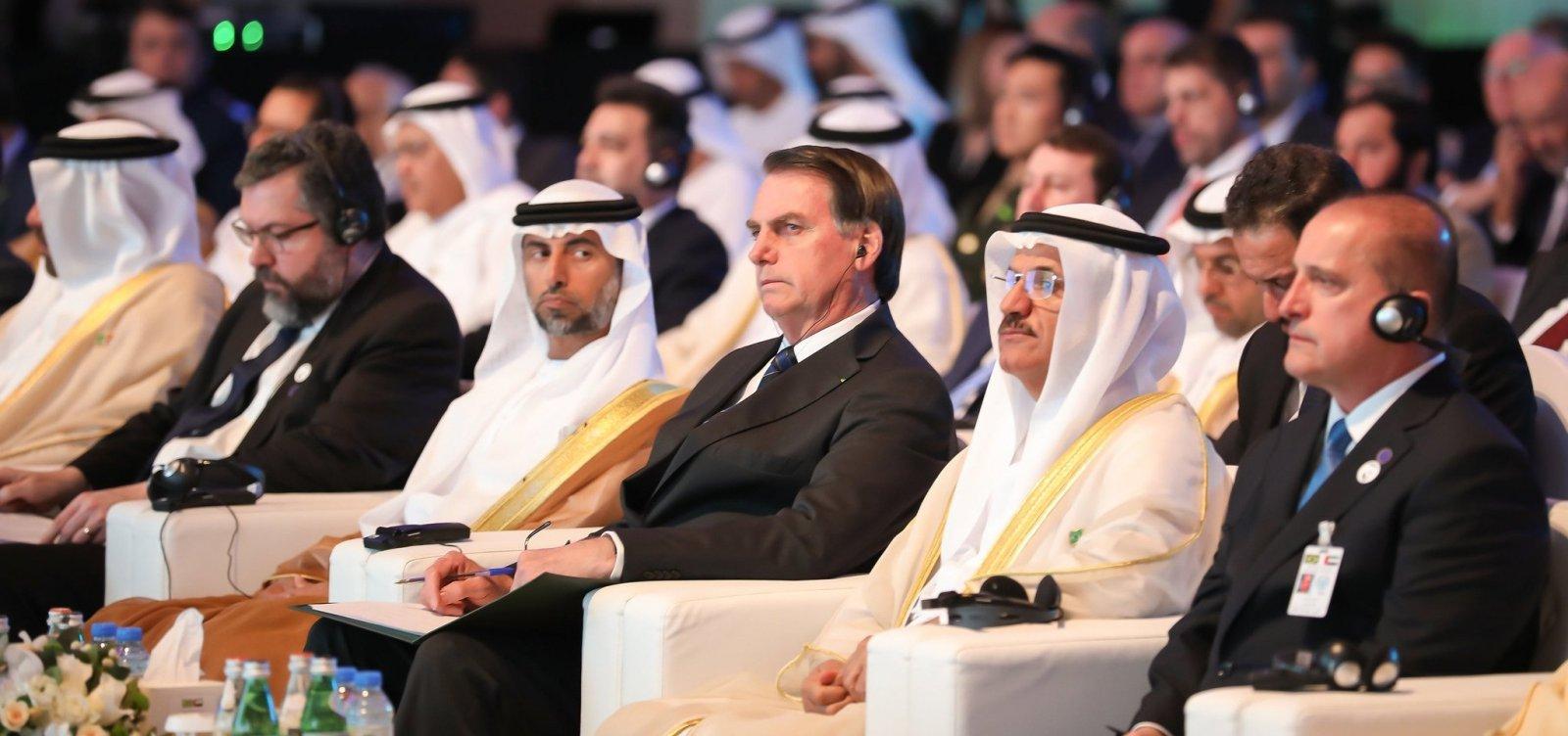 Bolsonaro e xeique dos Emirados Árabes assinam acordo de comércio