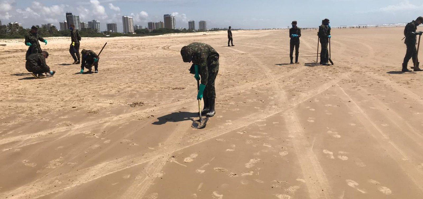 Comando Militar do Nordeste auxilia Marinha no combate às manchas de óleo