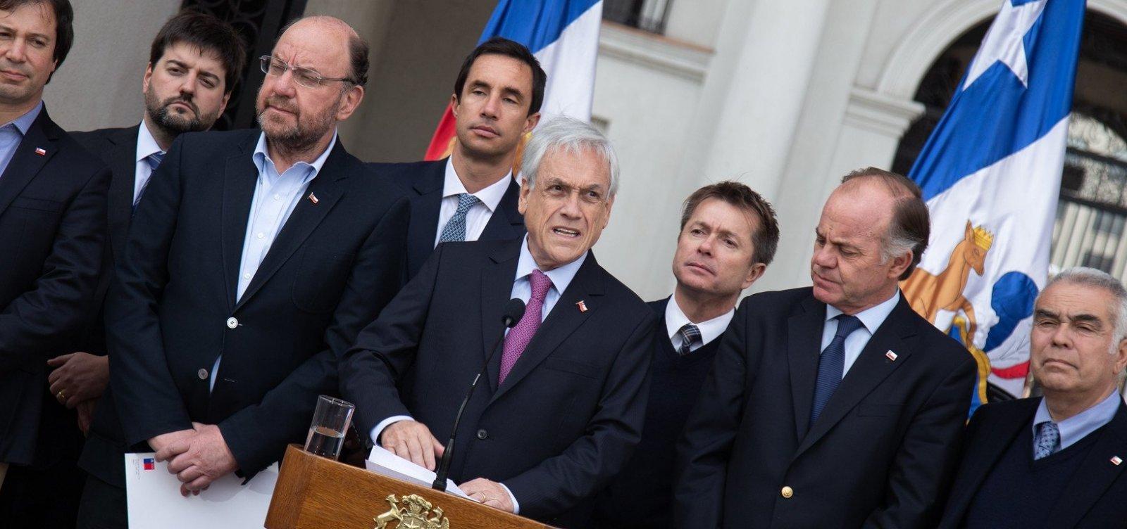Índice de reprovação de Sebastián Piñera alcança 78%