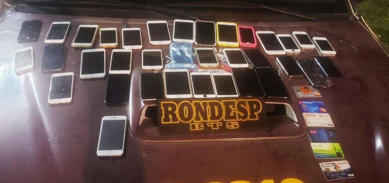 Com ajuda de GPS, mais de 30 iPhones furtados em festa são recuperados pela PM