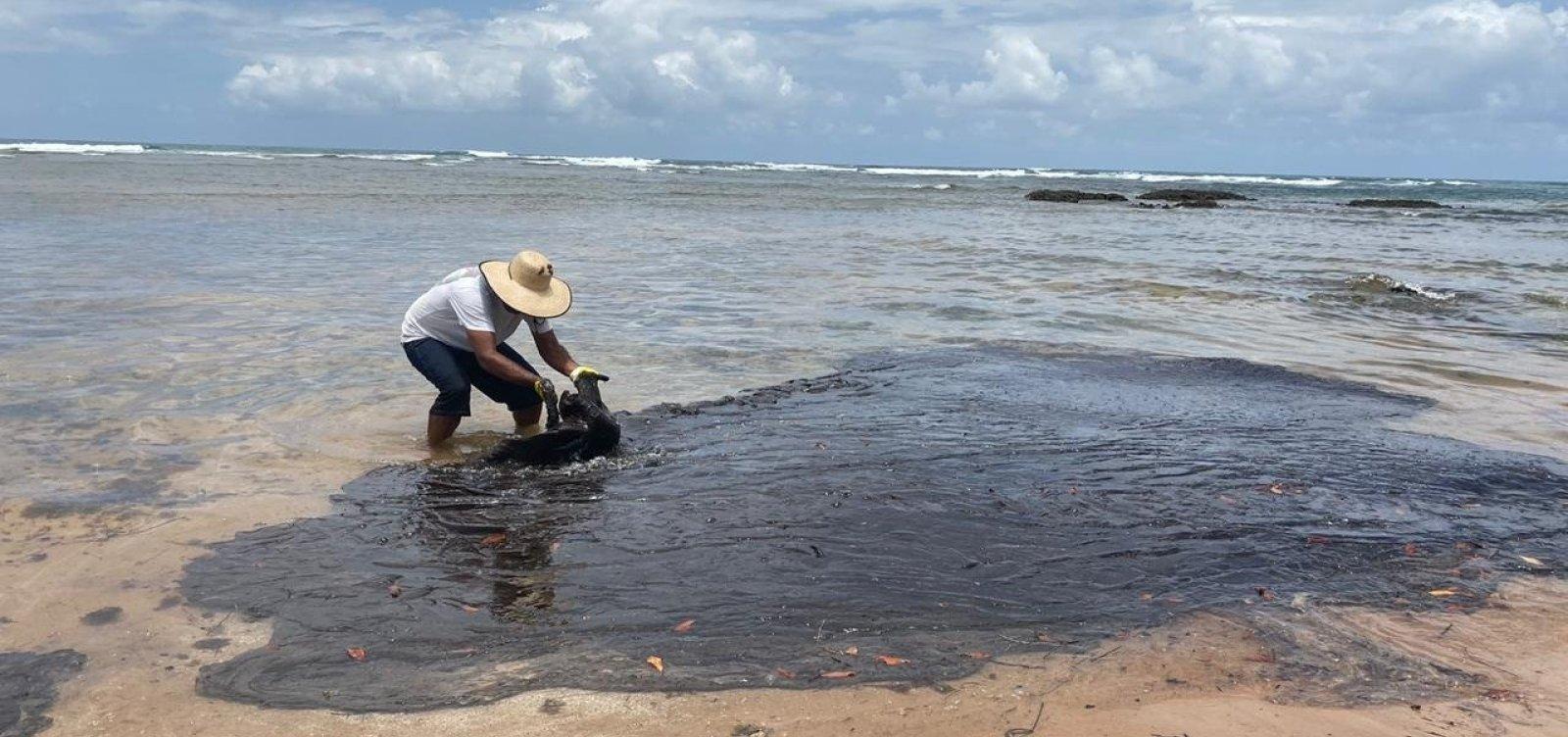 Manchas de óleo são encontradas em praias de Canavieiras
