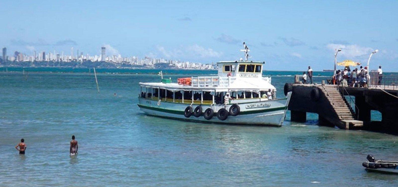Travessia Salvador-Mar Grande é interrompida por causa de maré baixa