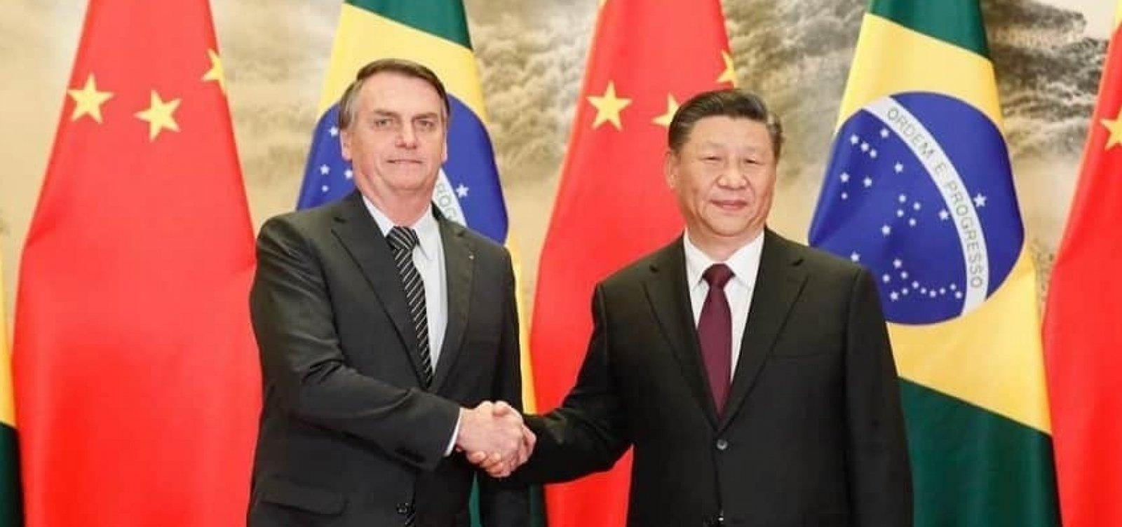 Bolsonaro convida Xi Jinping para 'maior leilão de petróleo e gás da história'