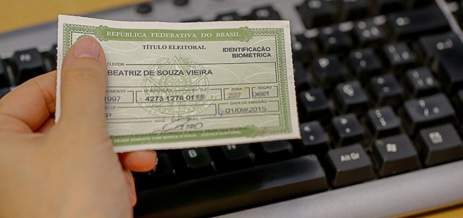 Eleitores de 39 municípios baianos têm até amanhã para fazer a biometria