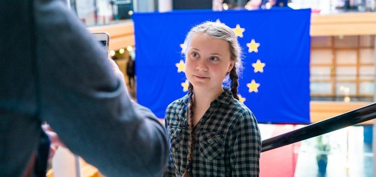 Greta Thunberg rejeita prêmio de 47 mil euros e cobra ação de políticos