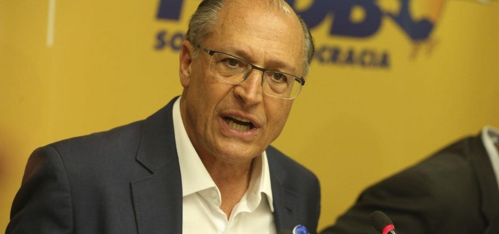 Alckmin recusa proposta do PSDB para ser candidato a vereador em São Paulo
