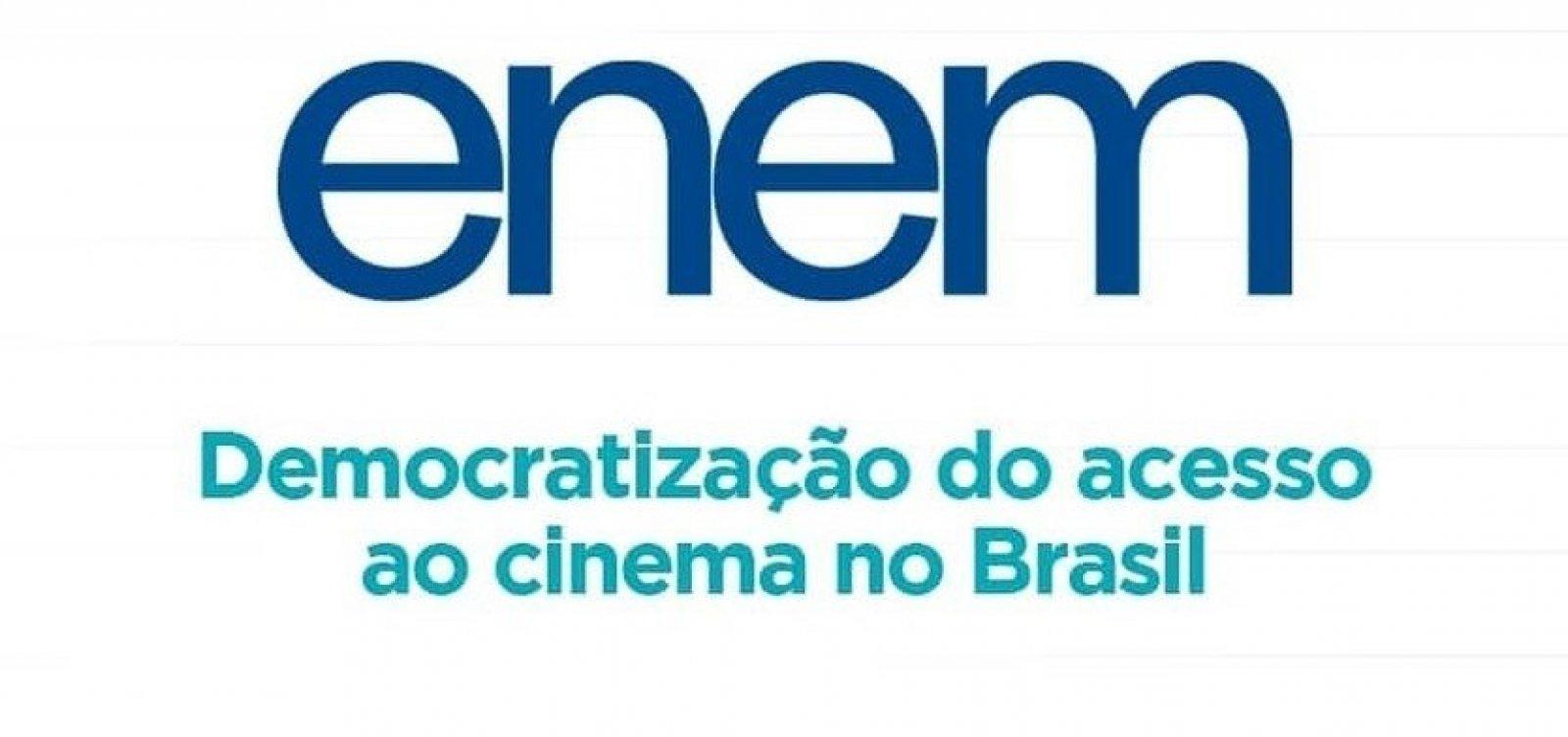 Redação do Enem 2019 é sobre democratização do acesso ao cinema no Brasil