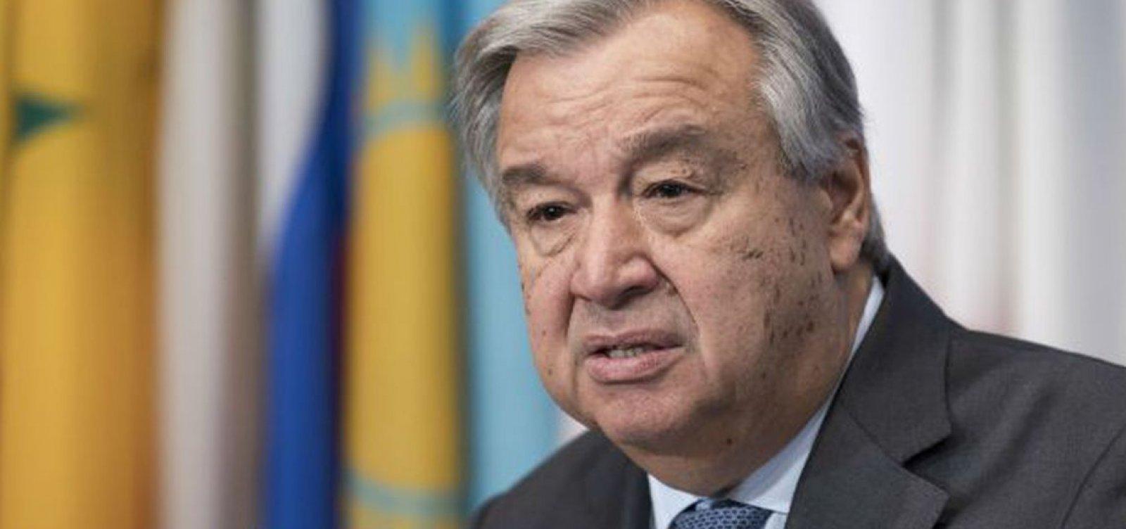 Gueterres pede mais cooperação internacional contra tráfico humano