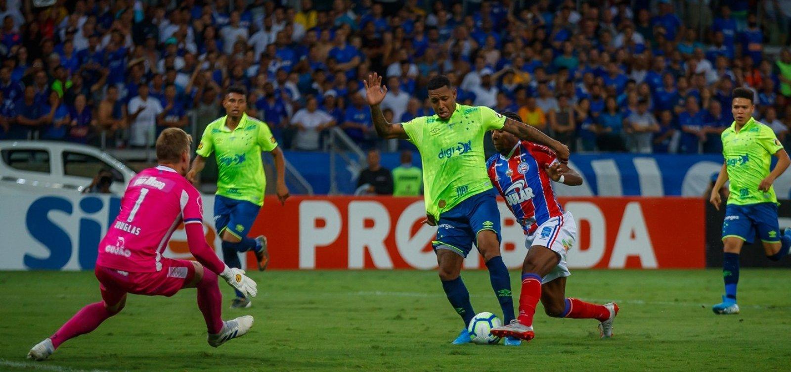 Com um a mais em campo, Bahia apenas empata com o Cruzeiro no Mineirão