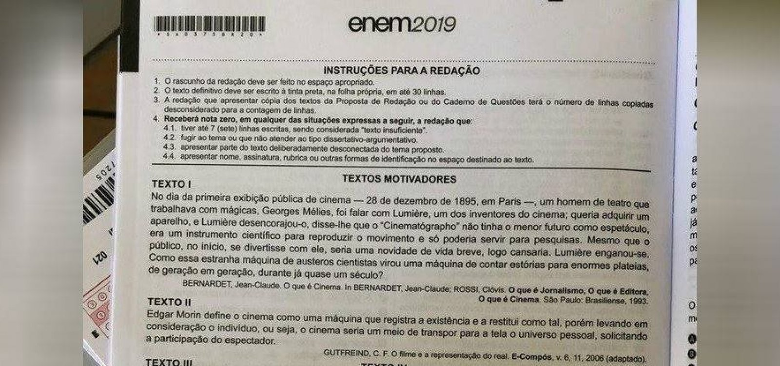 Aplicador do Enem teria vazado foto da prova, diz ministro