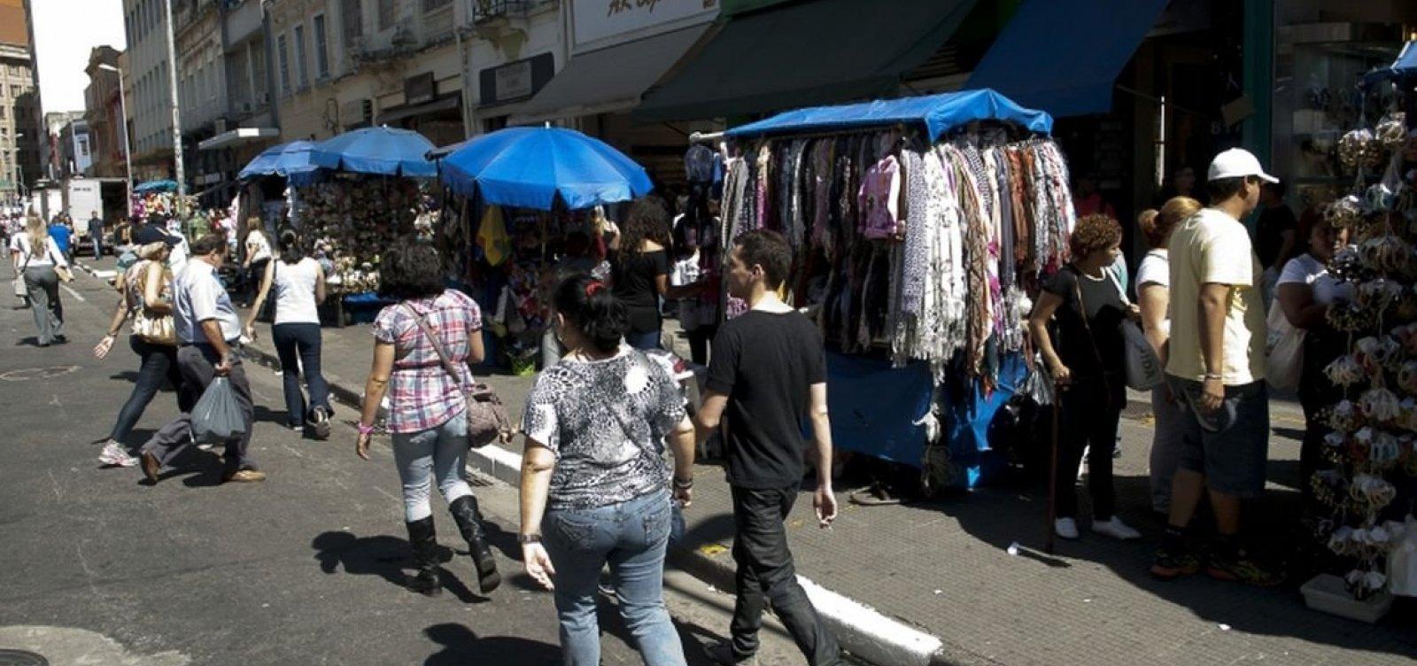 Informalidade cresce na Bahia e bate recorde em Salvador, diz IBGE