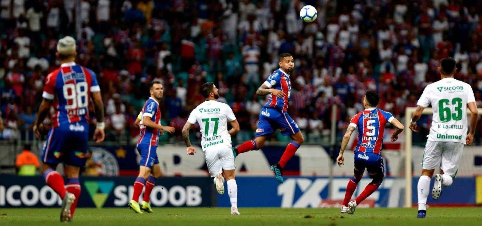 Sob vaias, Bahia só empata com a Chapecoense em 1 a 1 na Fonte Nova