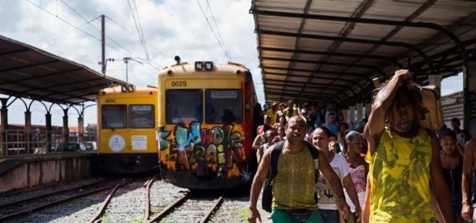 Funcionamento dos trens do Subúrbio fica suspenso após acidente e manutenção