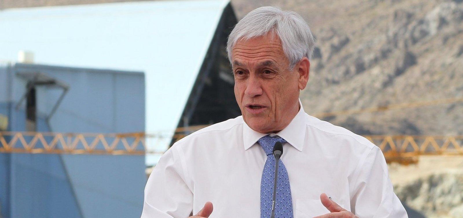 Com persistência de protestos no Chile, Piñera endurece repressão