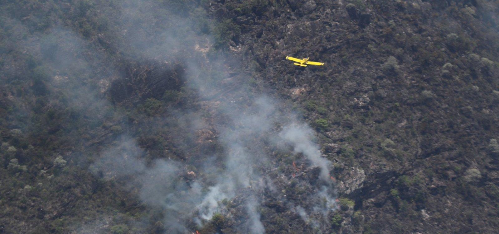 Bombeiros e voluntários monitoram possíveis focos de incêndio na Chapada Diamantina