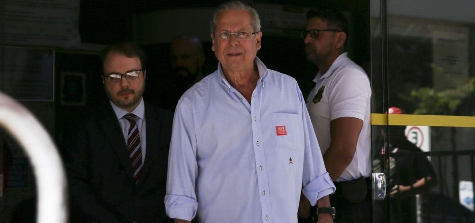 Ex-ministro José Dirceu é solto após decisão da Justiça