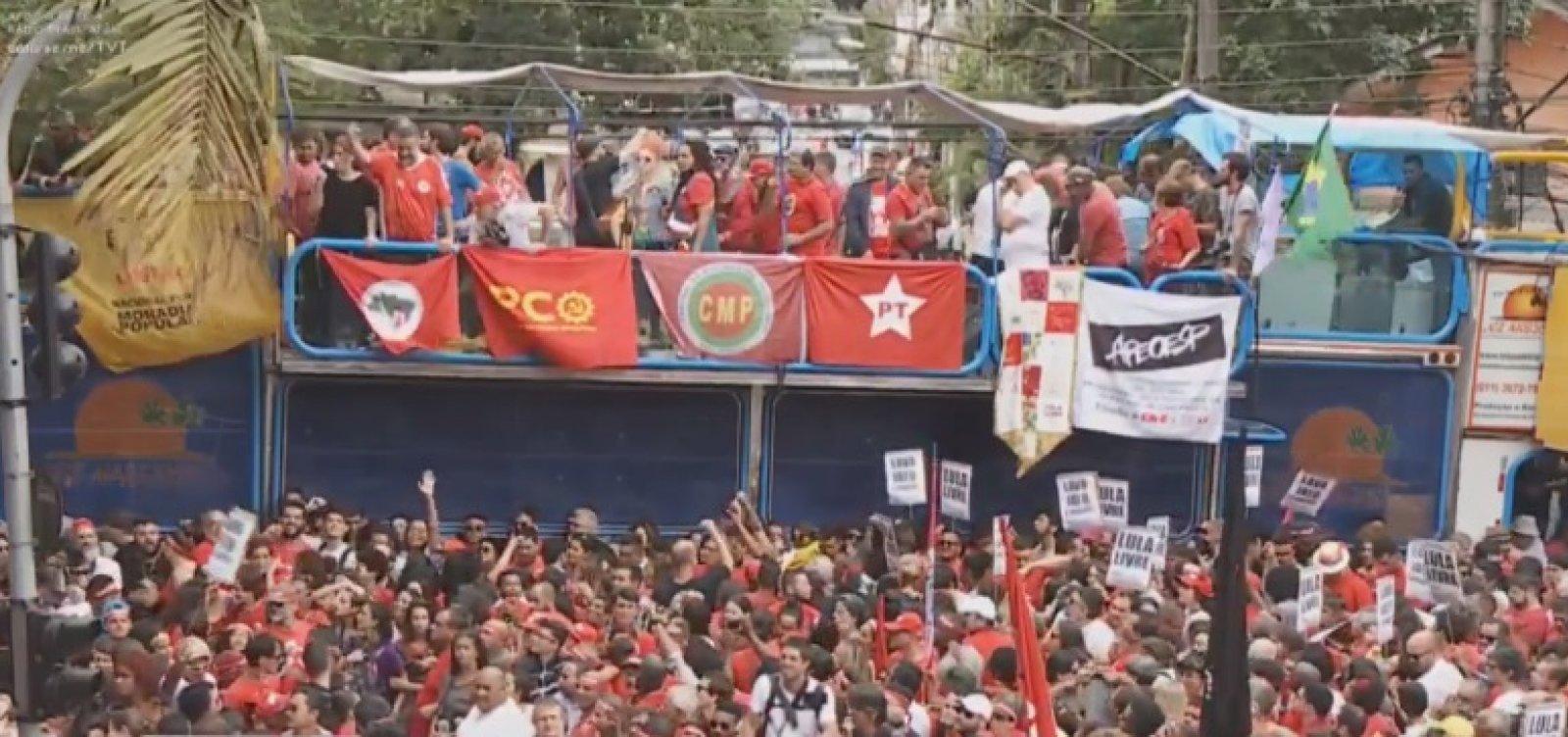 Ao vivo: Lula chega ao Sindicato dos Metalúrgicos nesta tarde