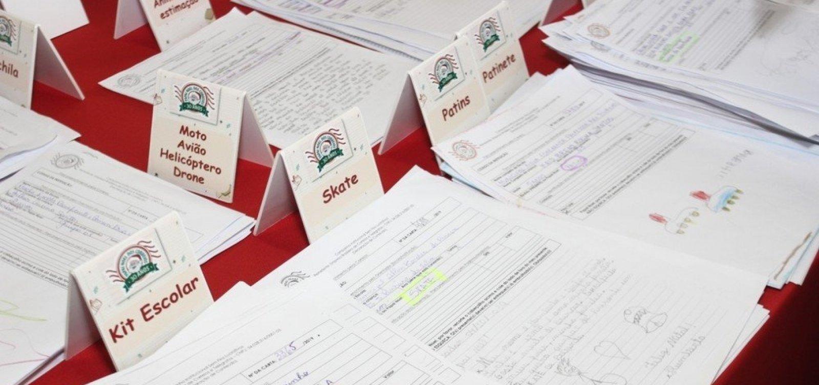 Cartas da campanha Papai Noel dos Correios podem ser 'adotadas' até dia 6 de dezembro