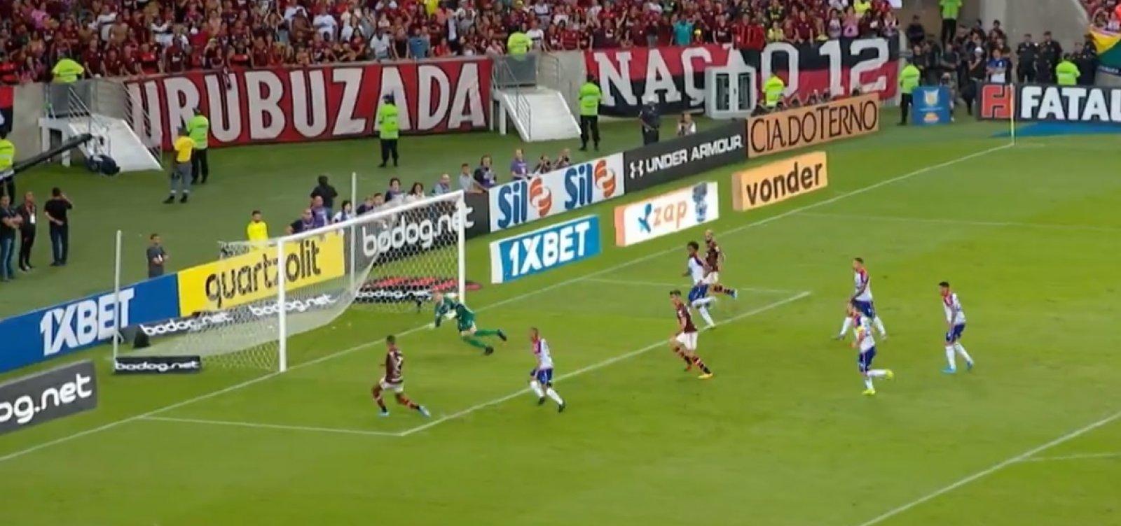 Bahia leva virada e perde para o Flamengo no Maracanã