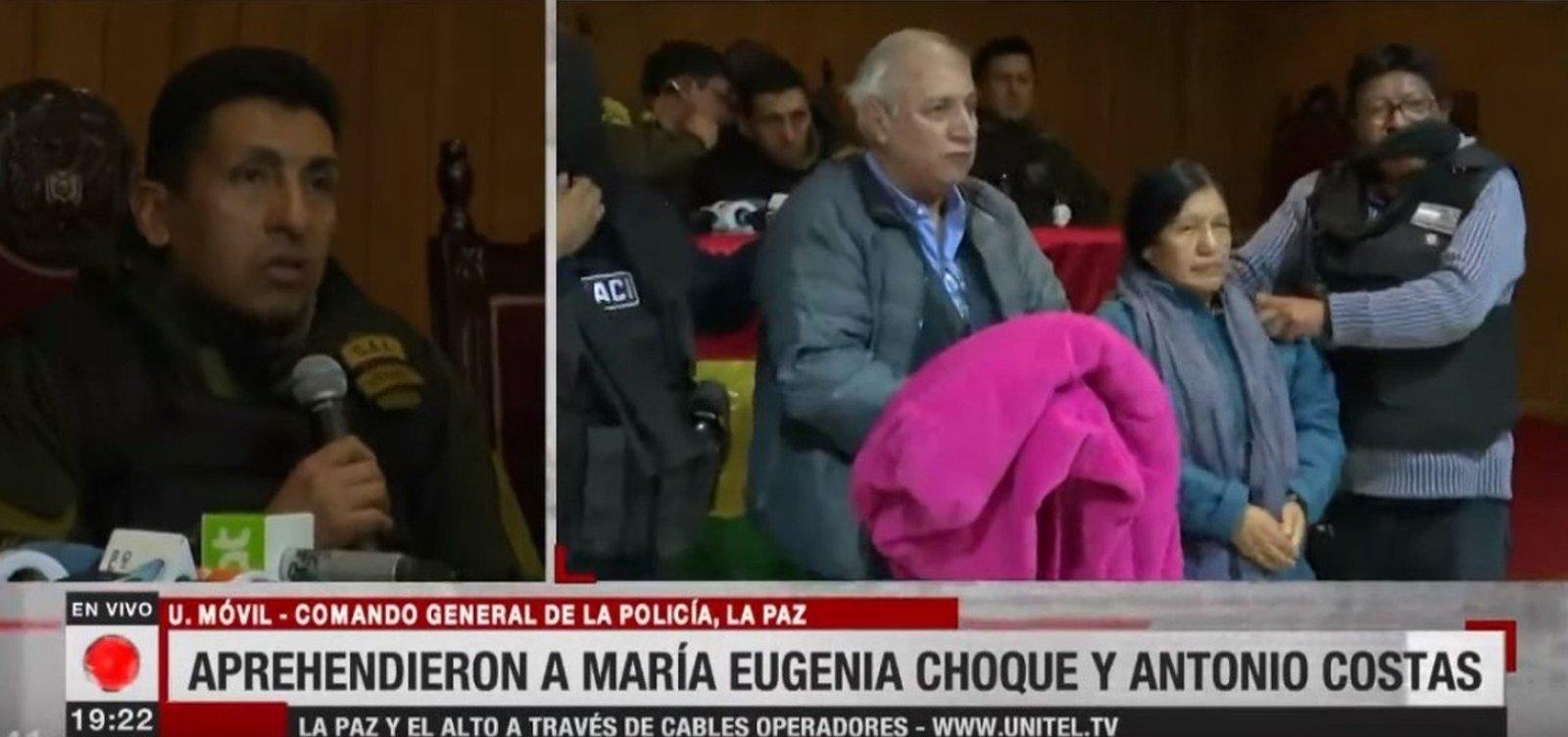 Após renúncia, ex-presidente do Supremo Tribunal Eleitoral da Bolívia é presa
