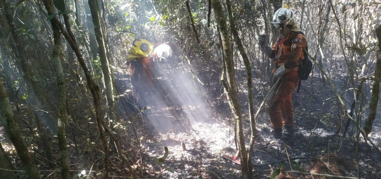 Chapada Diamantina: Incêndio na Serra das Almas é controlado
