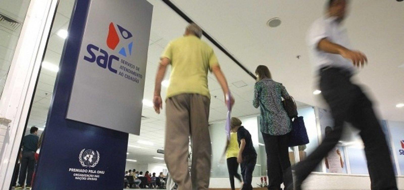 Unidades do SAC não vão abrir na Bahia em feriado de Proclamação da República