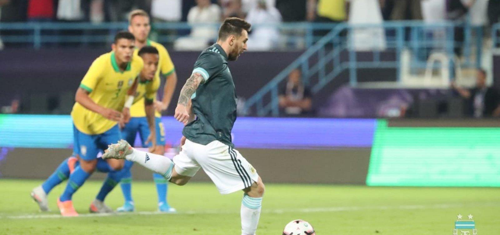 Brasil é dominado pela Argentina e perde amistoso por 1 a 0