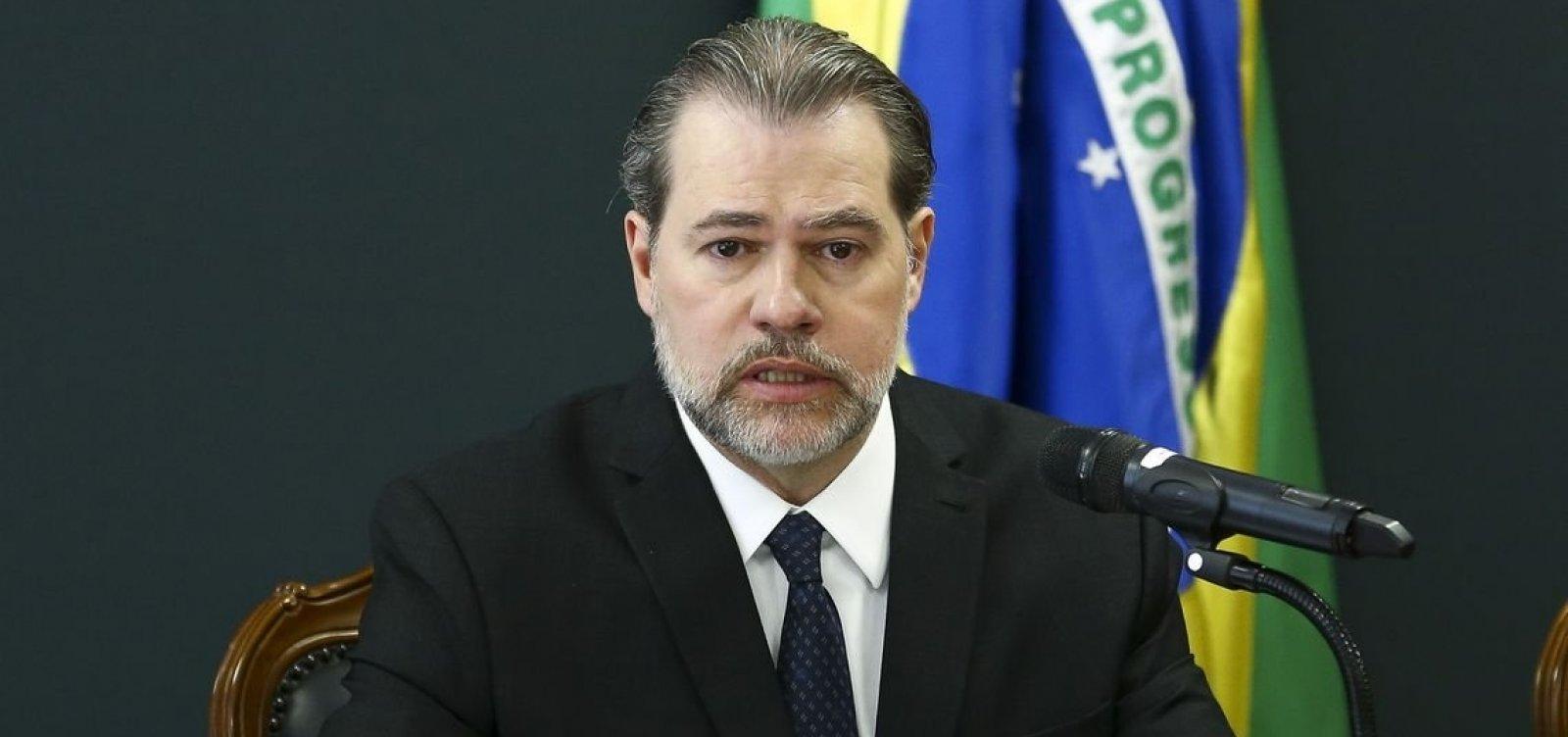 Toffoli nega pedido de Aras e mantém acesso a relatórios sigilosos