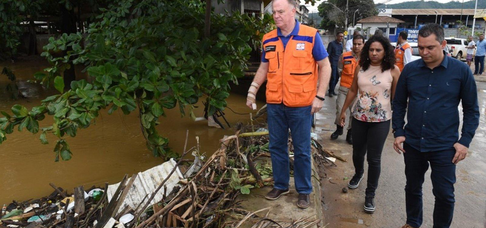 Chuvas deixam 664 pessoas fora de casa no Espírito Santo