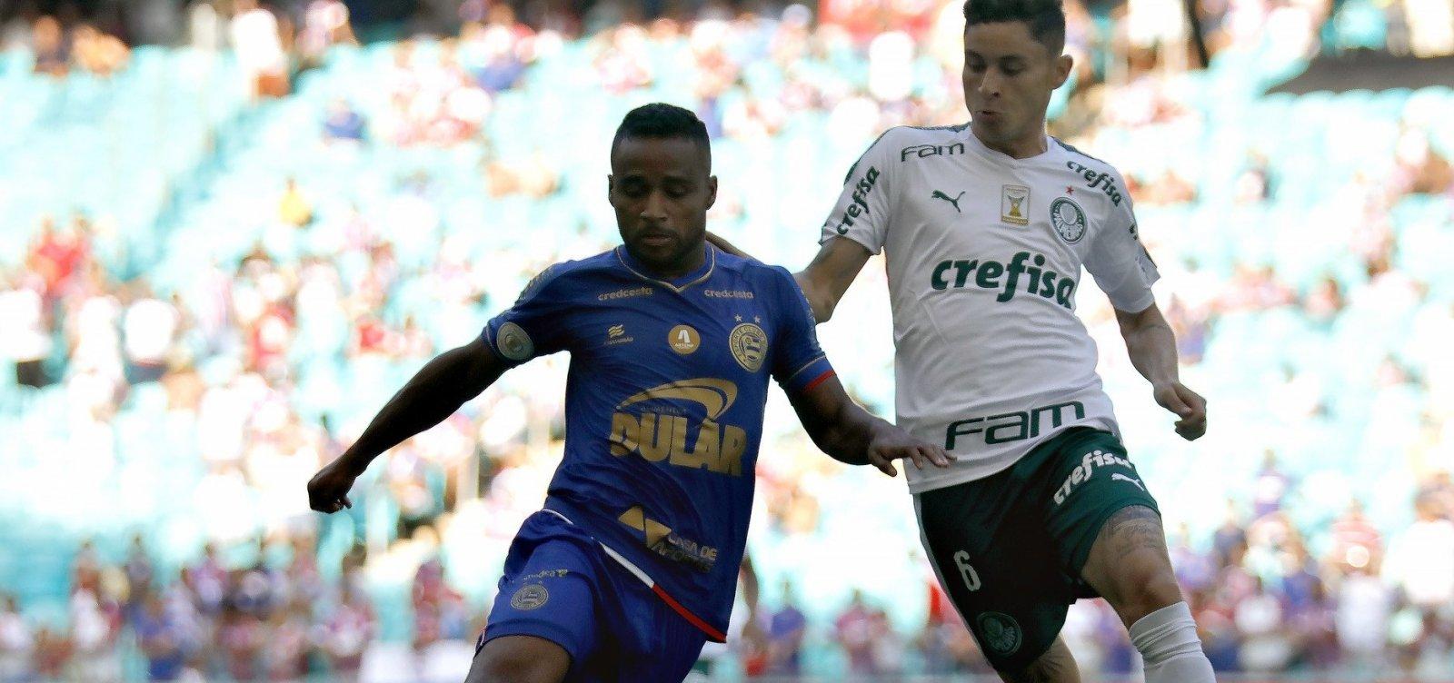 Bahia empata com o Palmeiras e segue sem vencer no Brasileirão