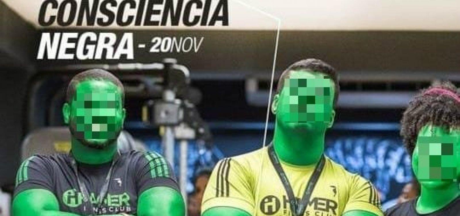 Academia de Salvador 'pinta' funcionários de verde em dia da Consciência Negra: 'Alma não tem cor'