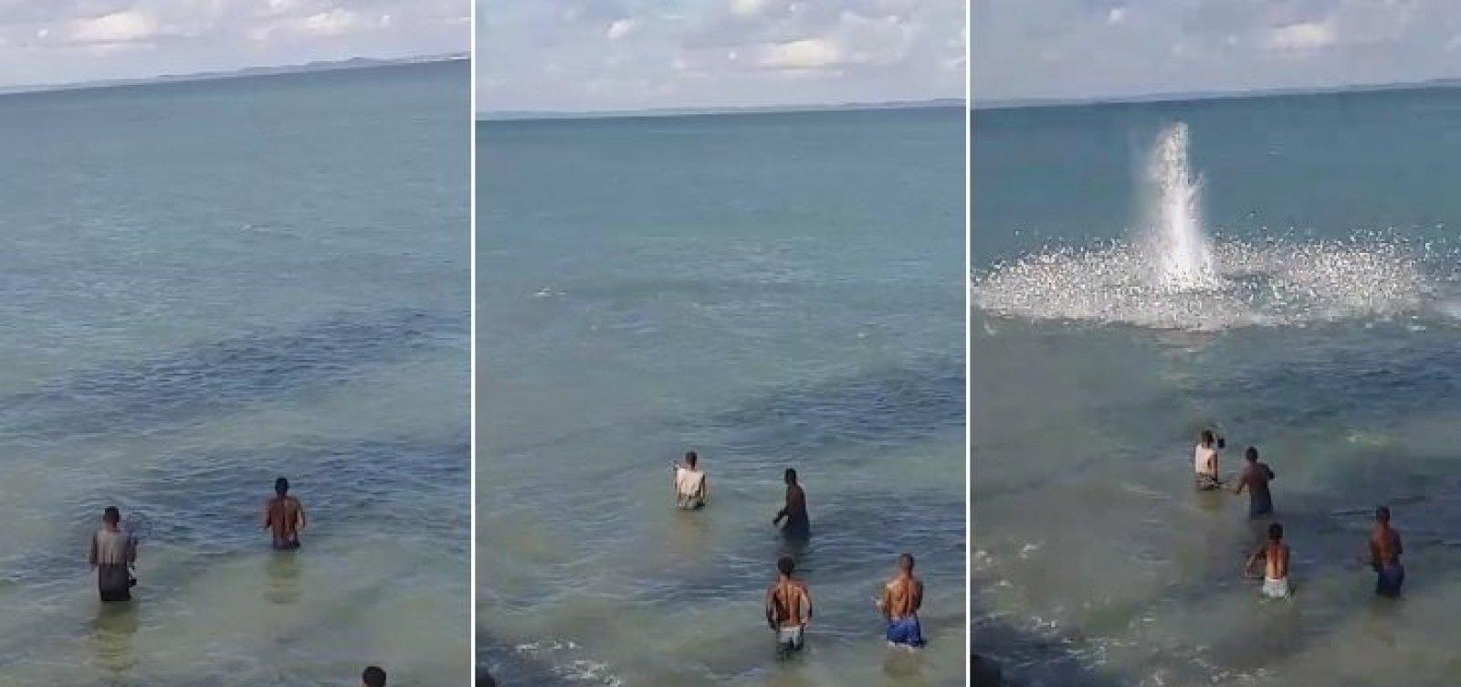 Vídeo: Morador de Itaparica denuncia pesca com bomba na ilha