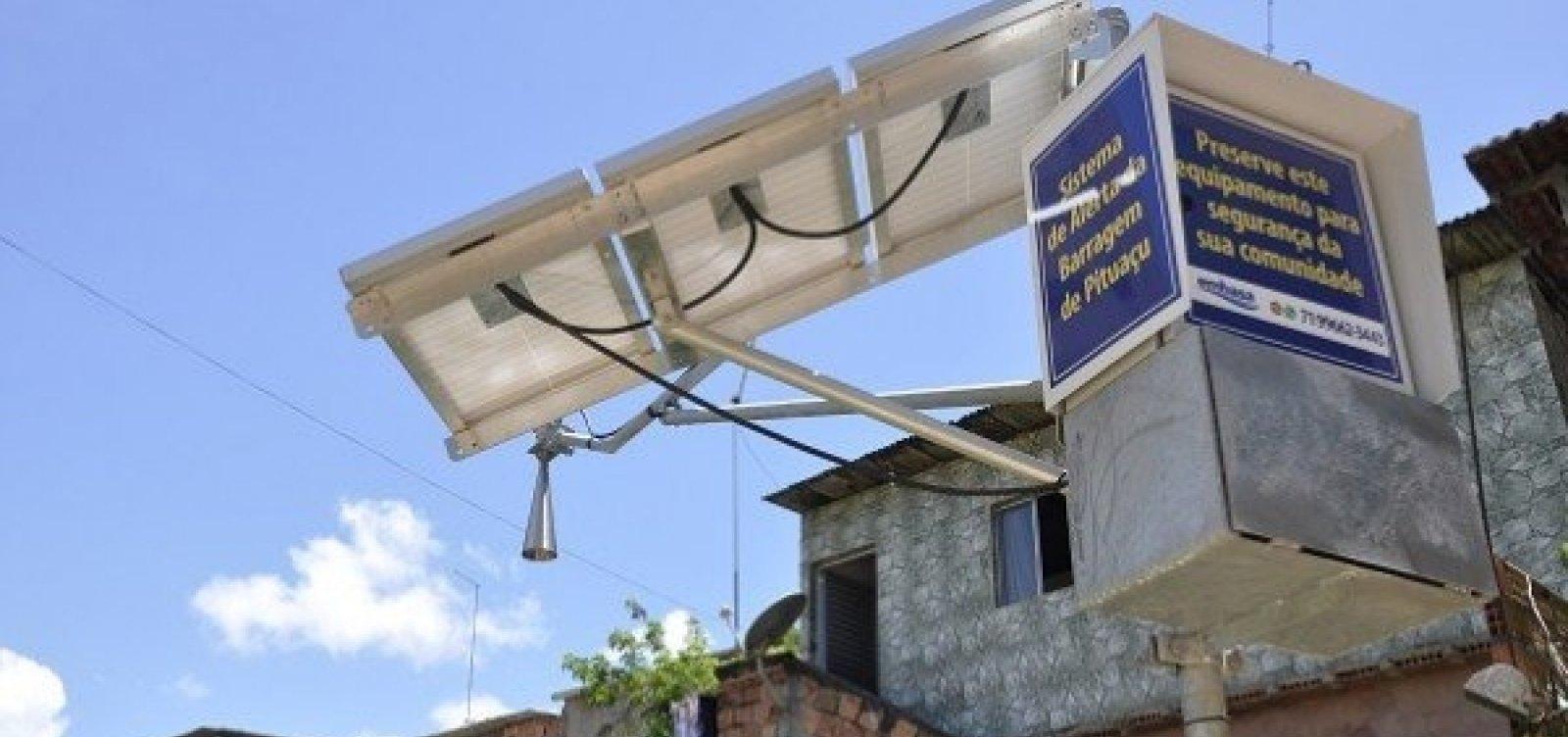 Sirenes do sistema de emergência da barragem de Pituaçu são testadas