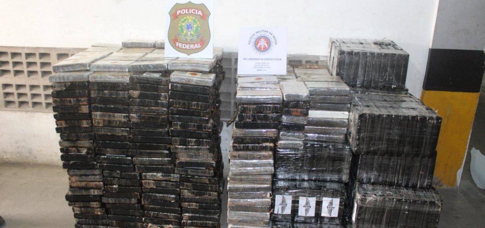 PF apreende 1,3 tonelada de cocaína em Pirajá