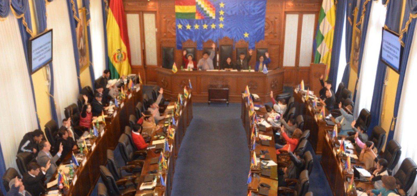 Senado aprova por unanimidade novas eleições na Bolívia
