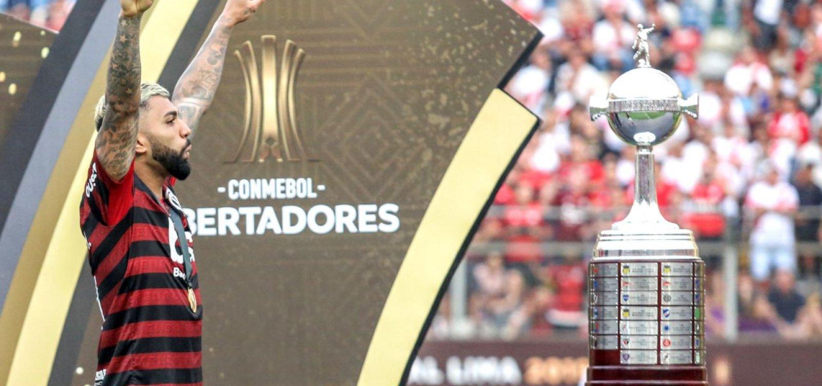 Autor dos gols do título do Flamengo, Gabigol celebra: 'Momento histórico'