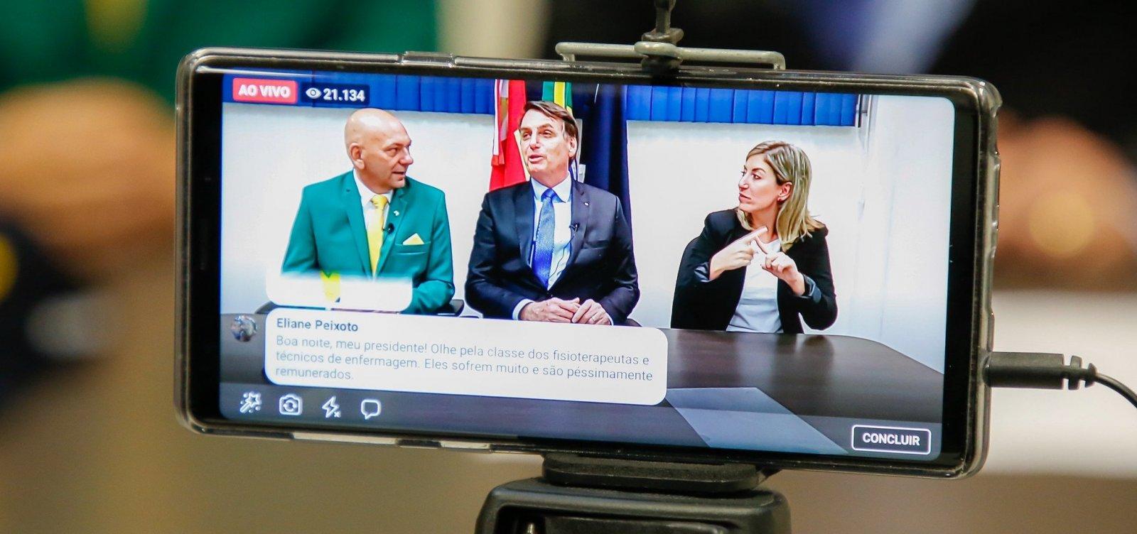 Bolsonaro é liderança política mais popular nas redes sociais, aponta índice