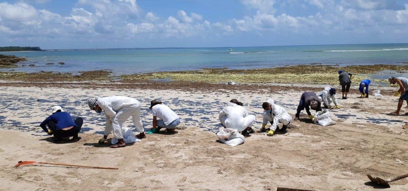 Ação da Marinha começa a remover amanhã óleo das ilhas de Boipeba e Tinharé