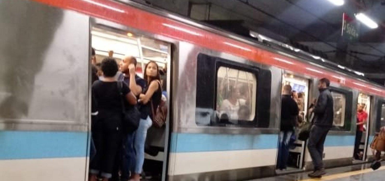 Trecho da linha 2 do metrô volta a operar após suspensão por conta das chuvas