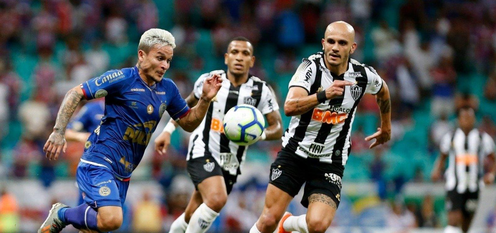 Bahia empata em 1 a 1 com o Atlético-MG e chega a nove jogos sem vencer