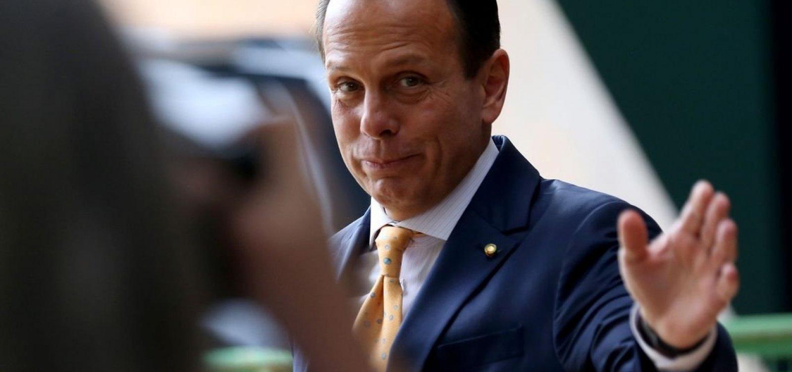João Doria lamenta mortes em Paraisópolis e elogia política de segurança