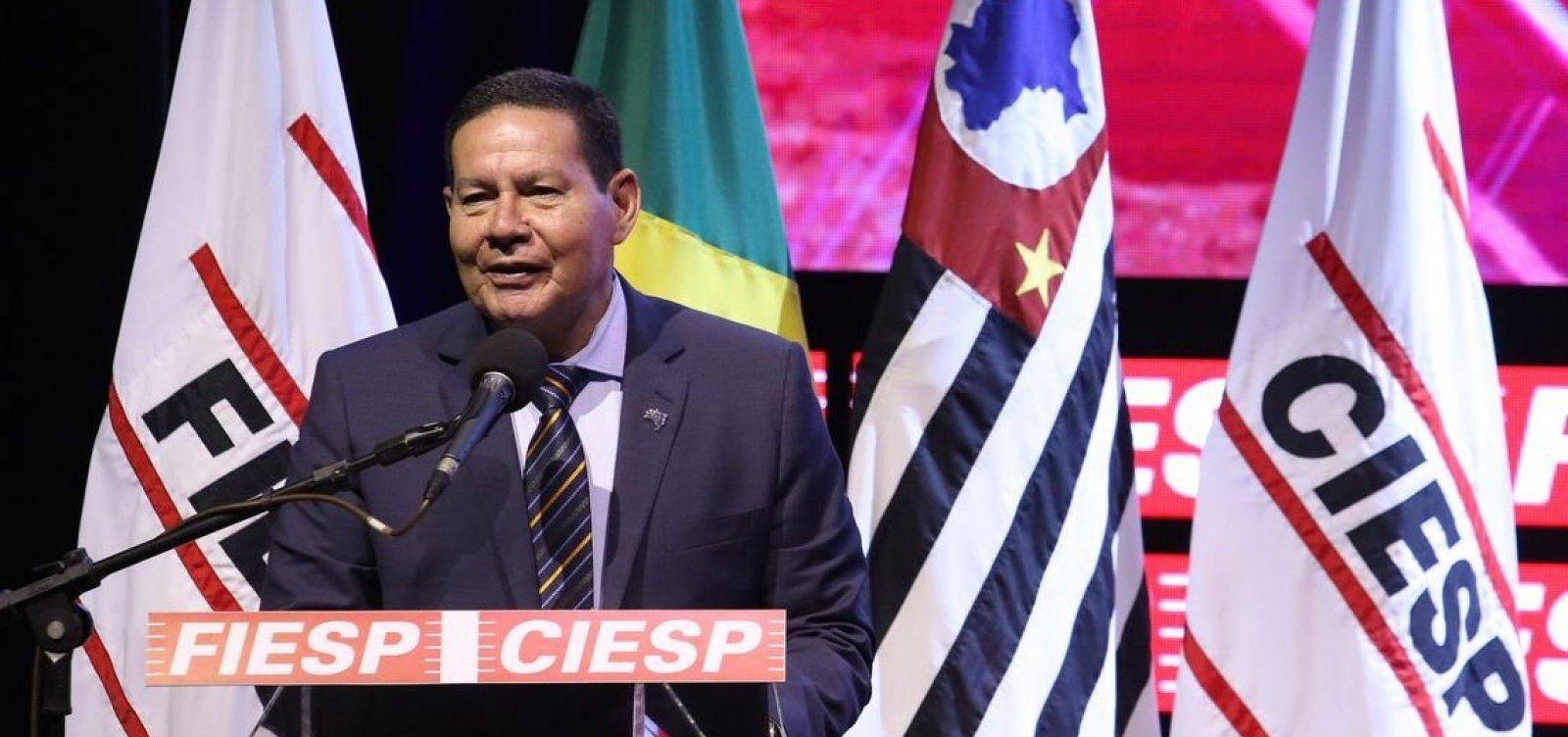 Decisão de Trump reflete tensão em mercado internacional, diz Mourão
