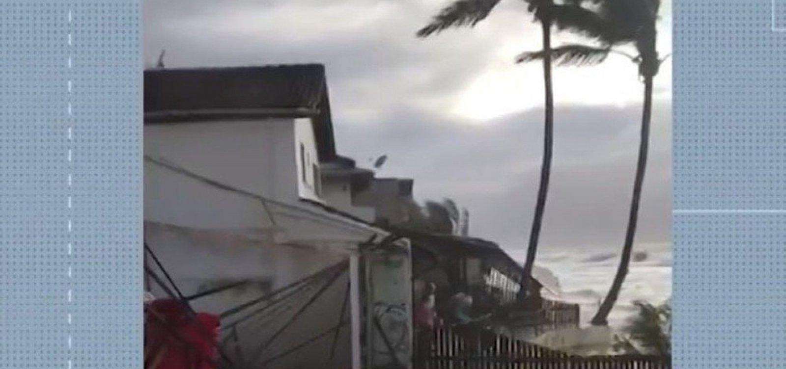 Marinha emite alerta de ressaca com previsão de ondas de até 3,5 m no sul da Bahia