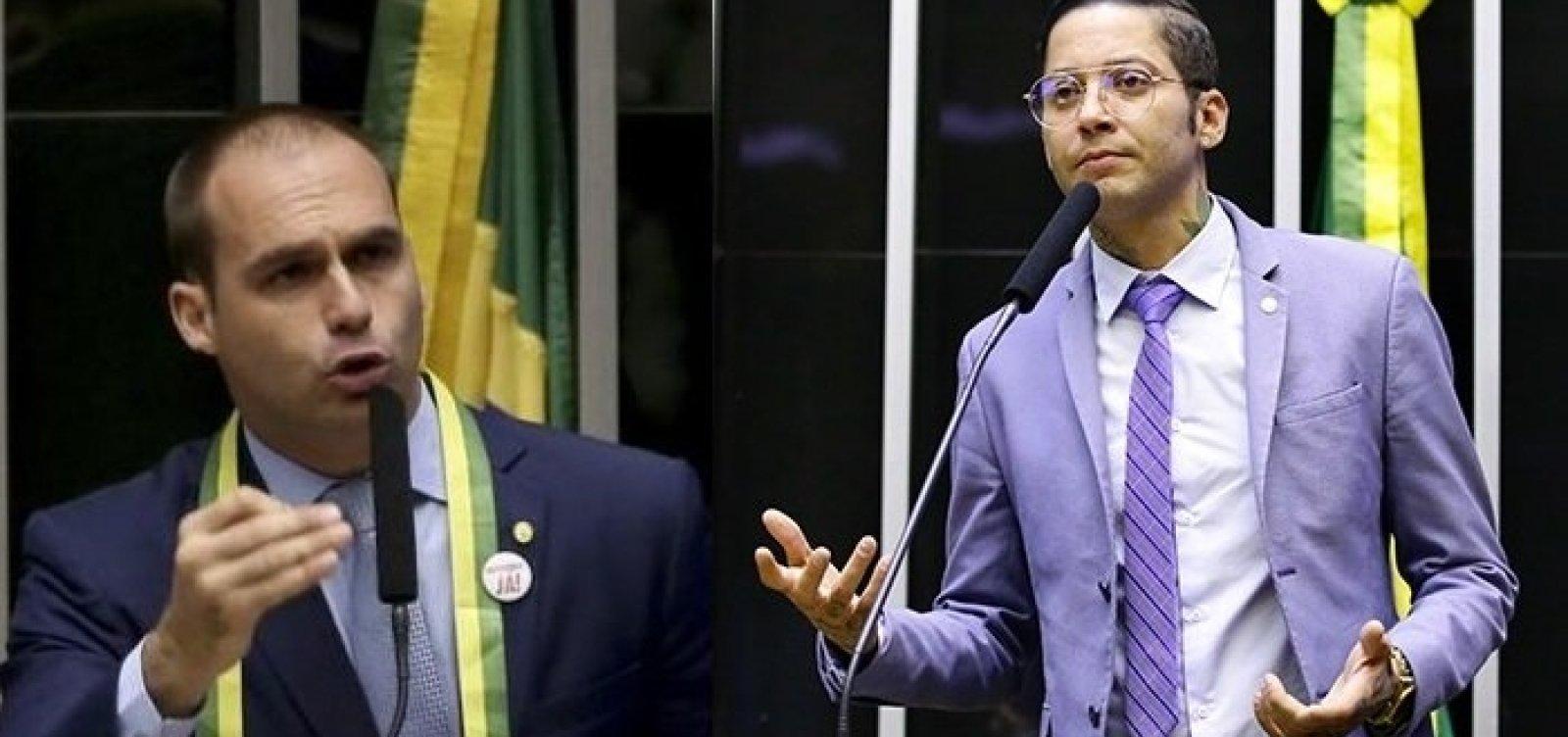 Eduardo Bolsonaro chama Kannário de 'vagabundo' após cantor enfrentar PMs na Liberdade