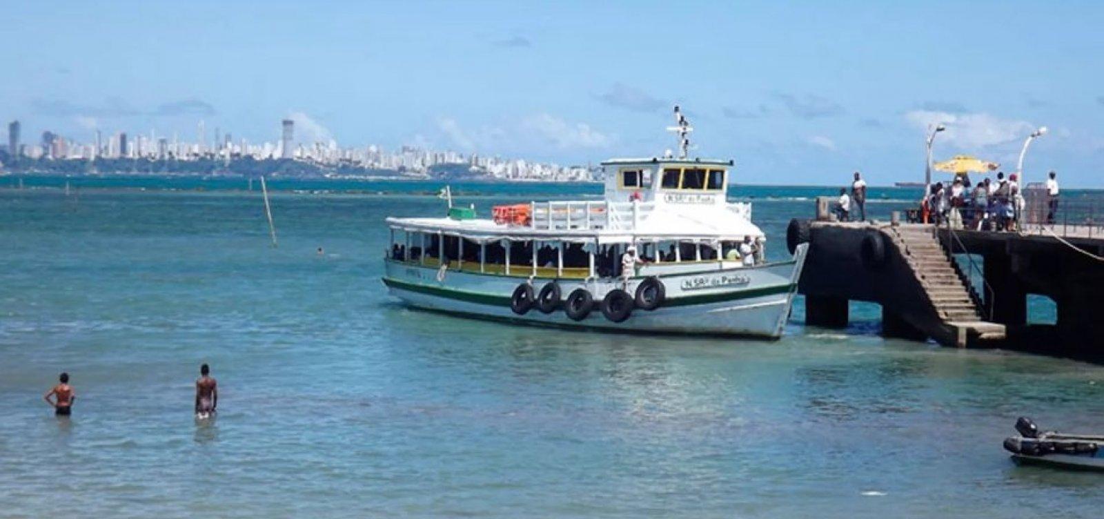 Travessia Salvador-Mar Grande será encerrada mais cedo devido à maré baixa