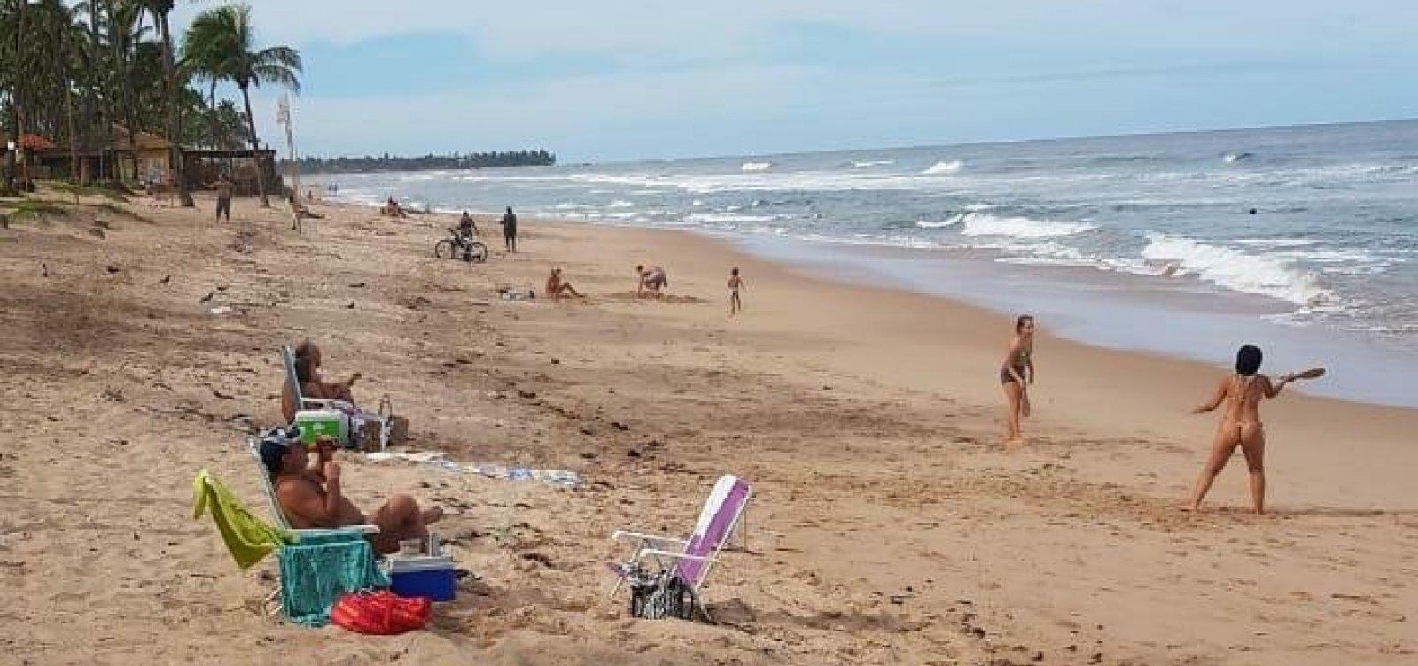 Banhistas são flagrados em praia de Vilas, interditada desde 19 de março